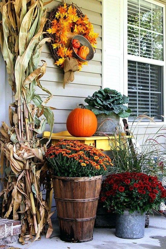 Herbstdeko für draußen - 40 stimmungsvolle Ideen zum Nachmachen #herbstlicheaußendeko