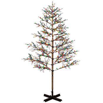 GE 8 ft Winterberry Tree with 504 Sugar Plum Lights   Christmas ...