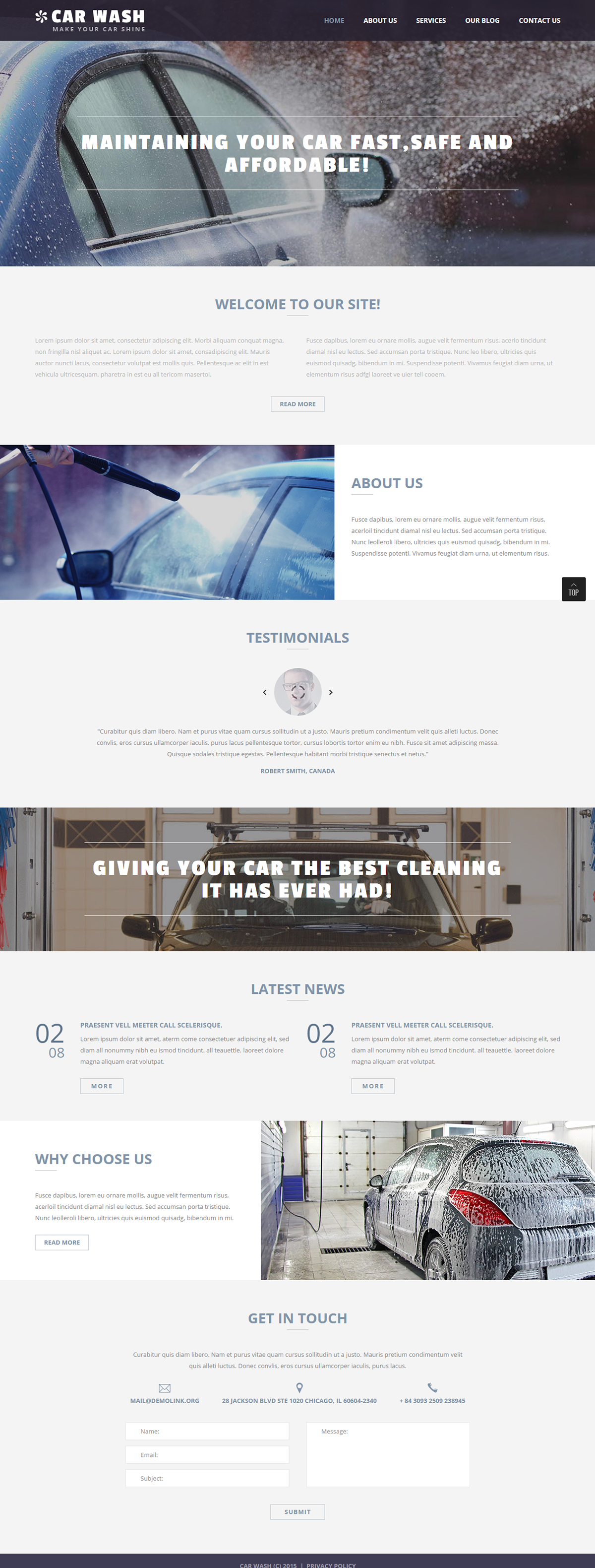 Car Wash Joomla Template | Joomla Templates | Pinterest