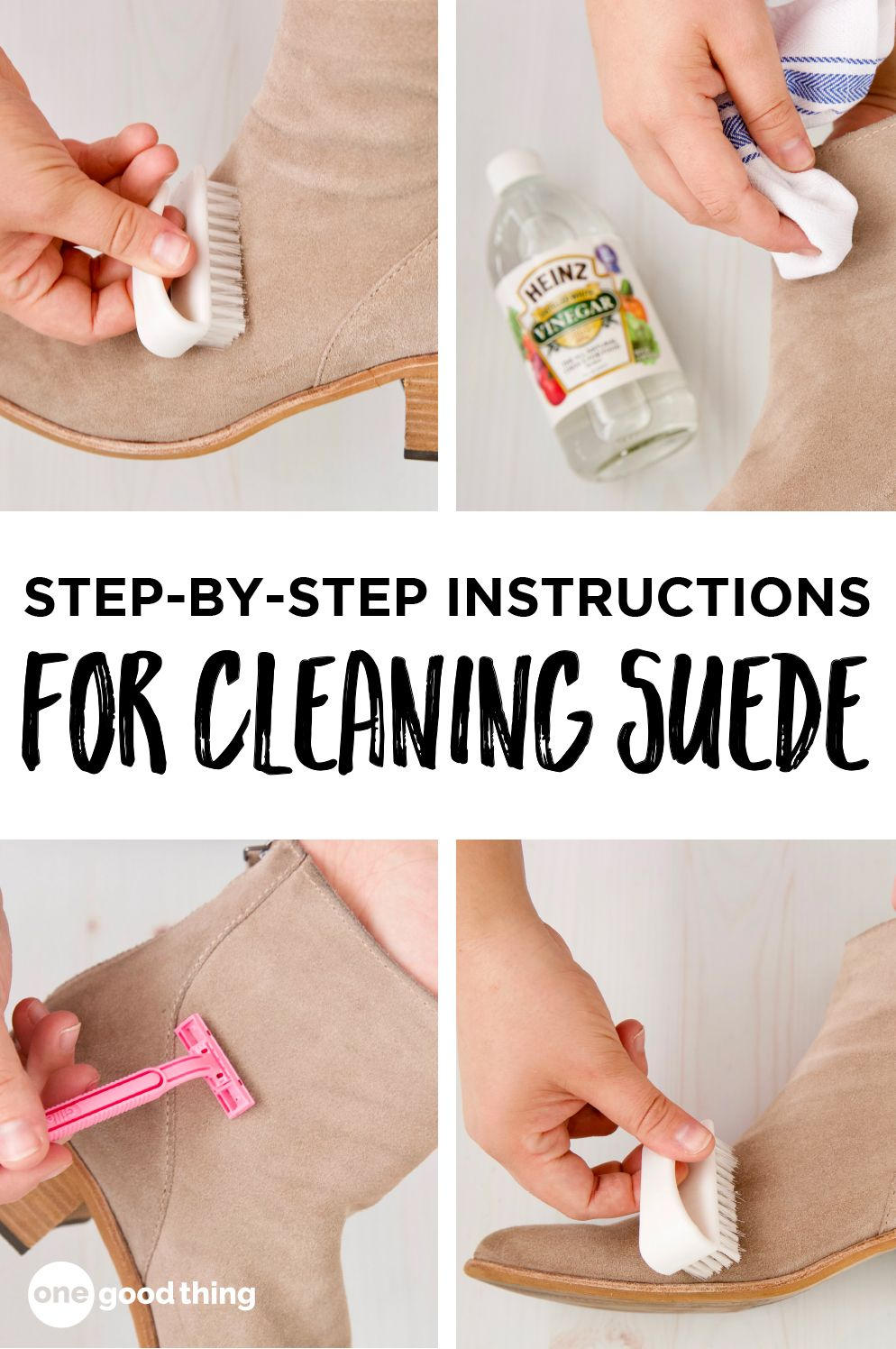 Can You Wash Suede Shoes With Soap And Water How To Clean Suede Shoes The Easy Way One Good Thing By Jillee How To Clean Suede Clean Suede Shoes Fun To Be One