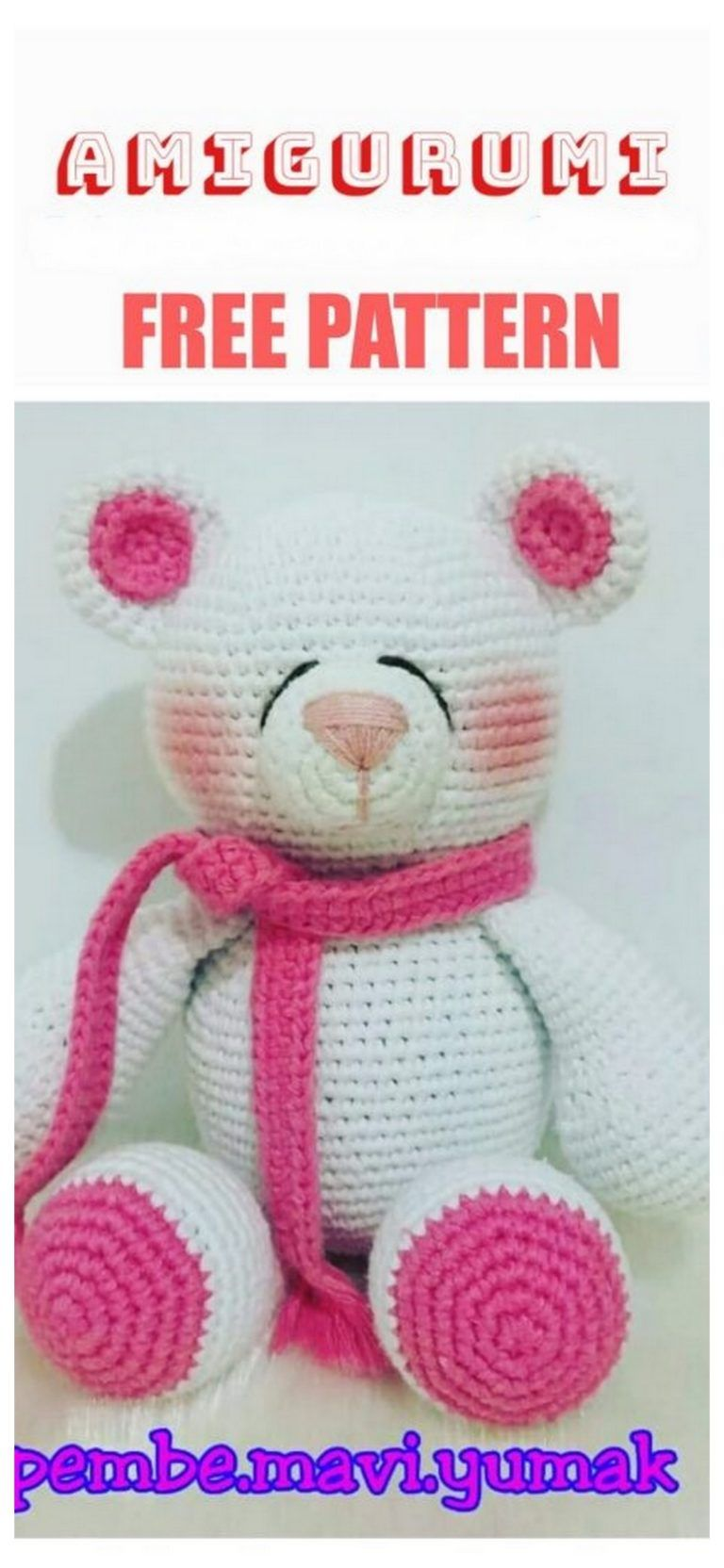 Amigurumi Fat Teddy Bear Free Crochet Pattern - Amigurumi Free Patterns #teddybearpatterns