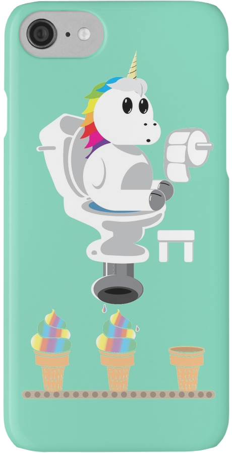 regenbogen einhorn eiscreme iphone h lle cover by. Black Bedroom Furniture Sets. Home Design Ideas
