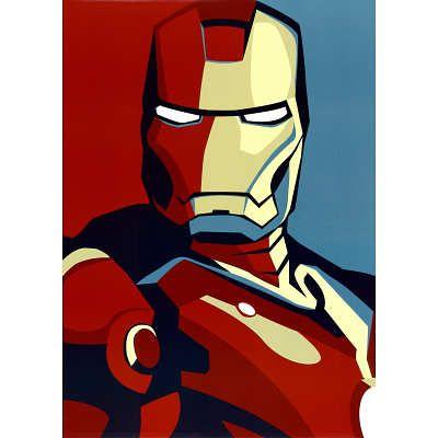 Canvas Iron Man 3 Comic Movie Art Print Poster