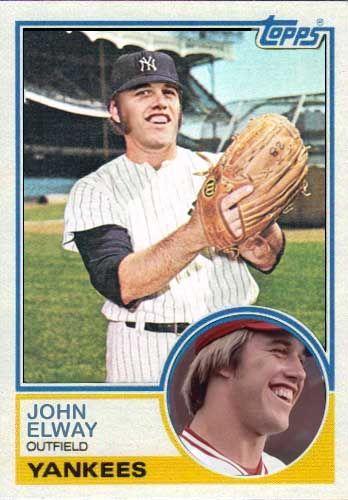 John Elway Baseball Card Custom Card Blog Custom Cards Created