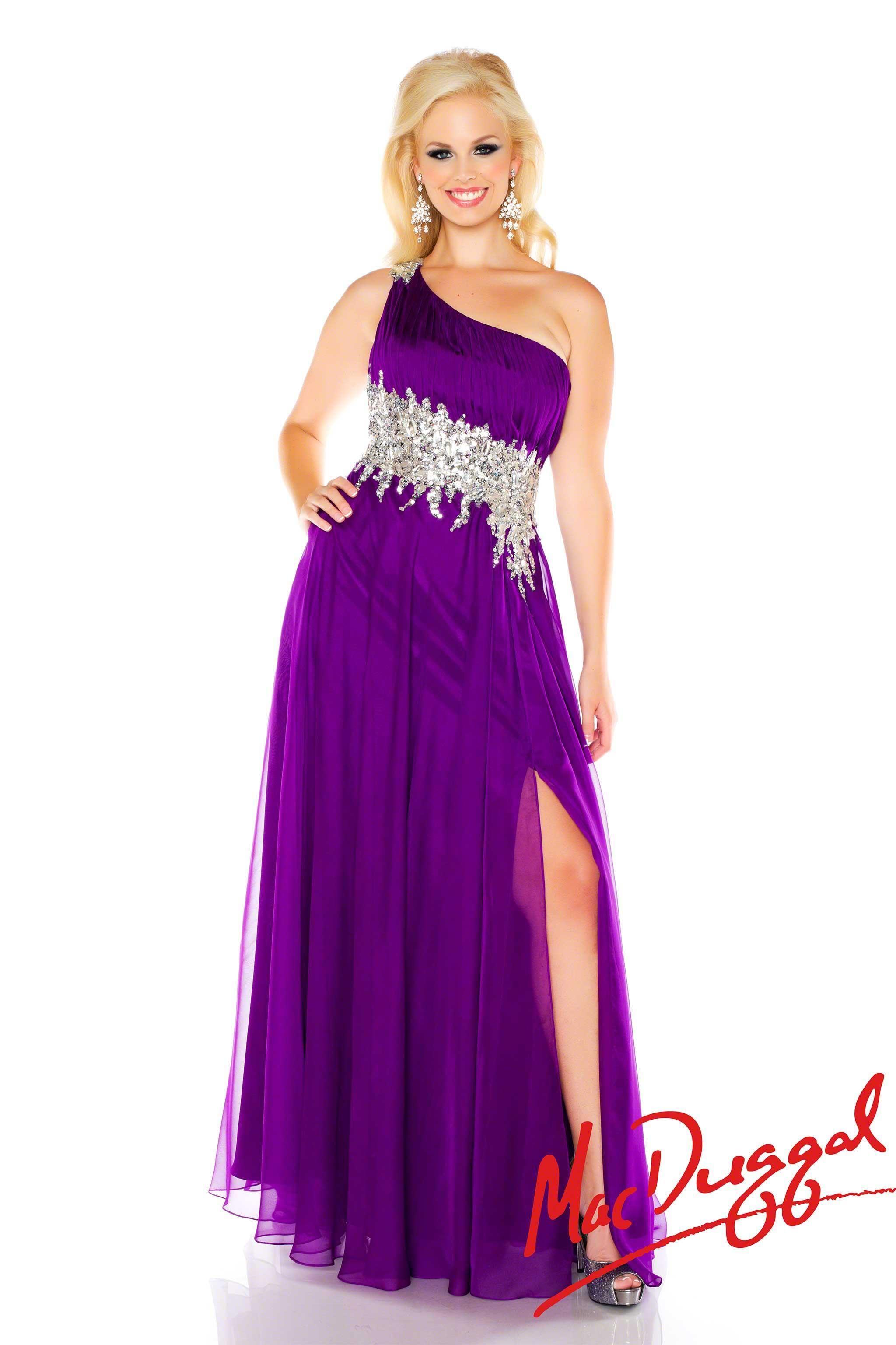 Neon Purple Prom Dress