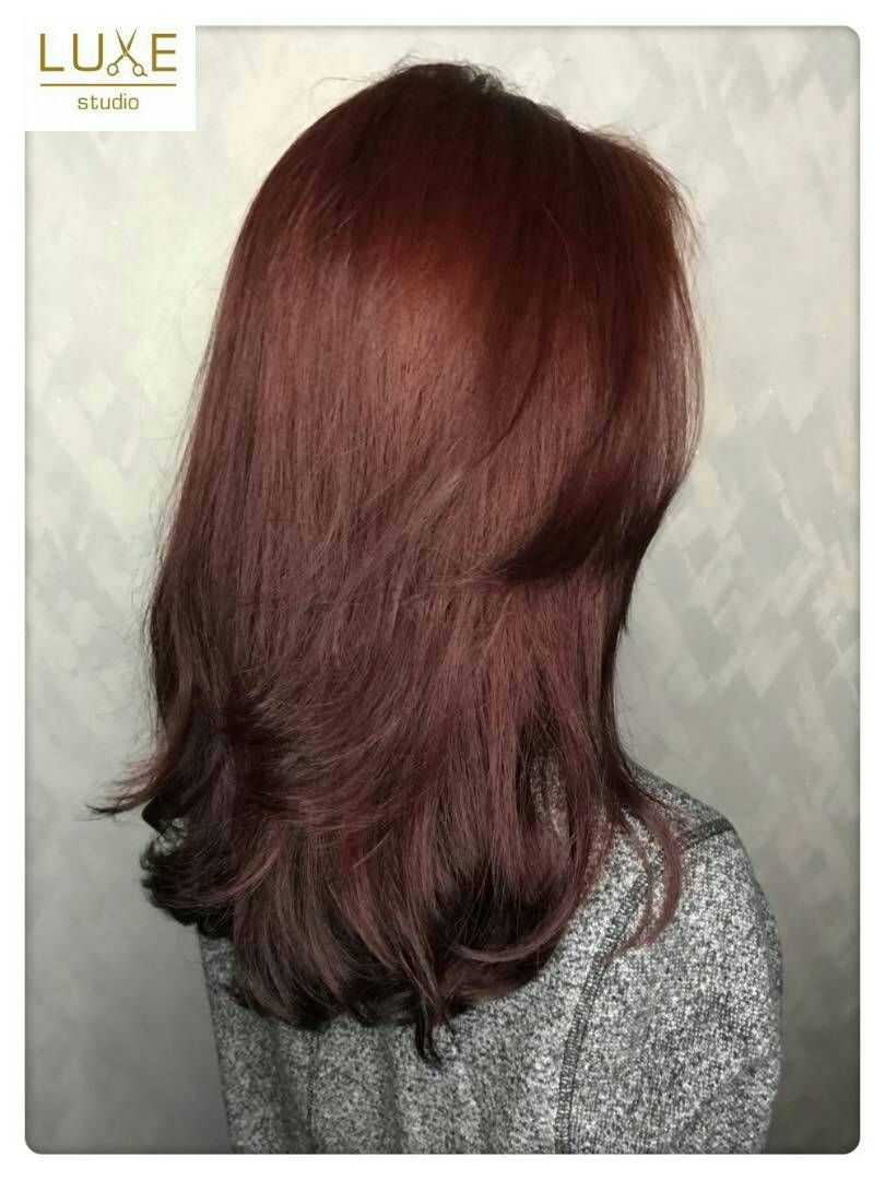 Luxe Studio Gorgeous Stunning Hair Colors Red Wine Color With