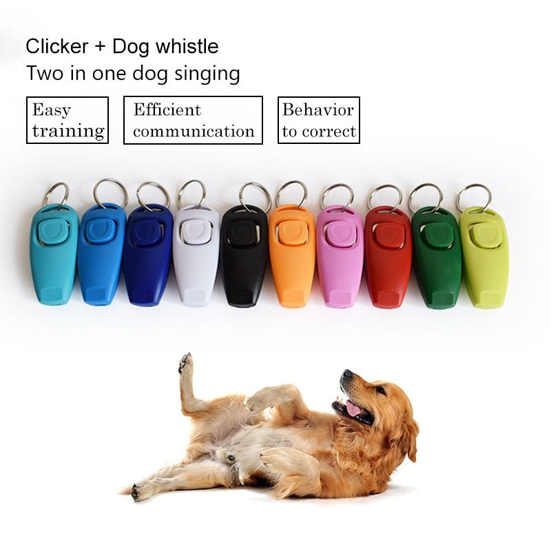 Hot Sale Combo Pet Dog Clicker Whistle Pet Trainer Click Puppy Dog