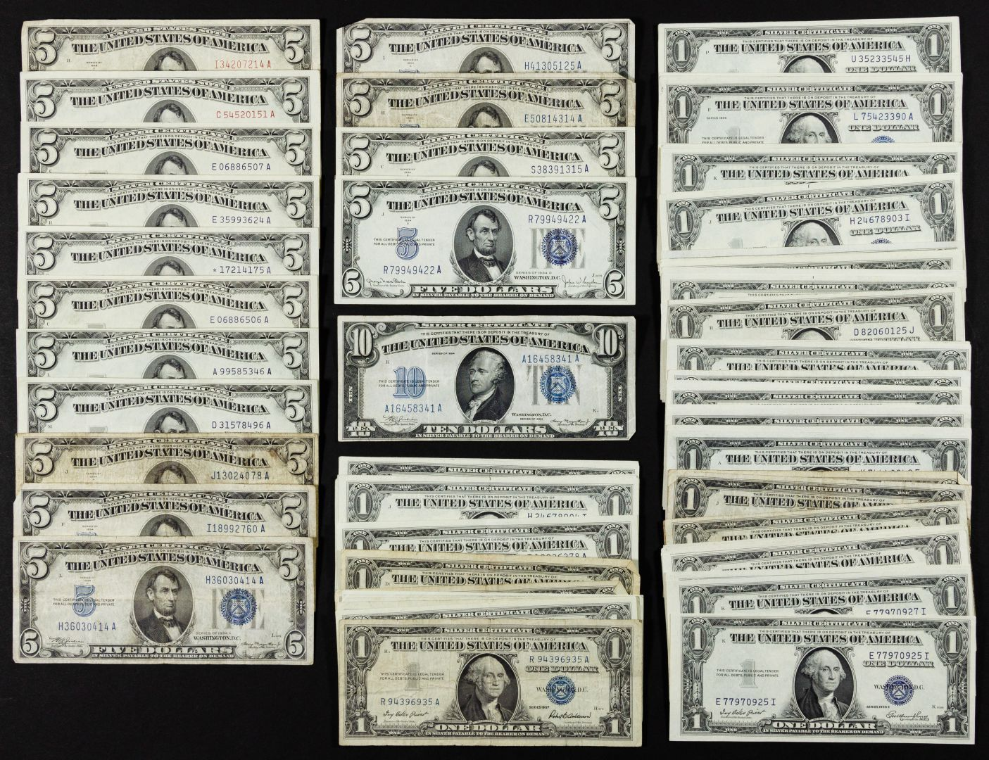 Lot 1 Silver Certificate Assortment 175 Face Value 104 Notes