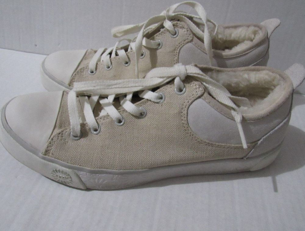 UGG Womens Canvas Fur Lined Tennis