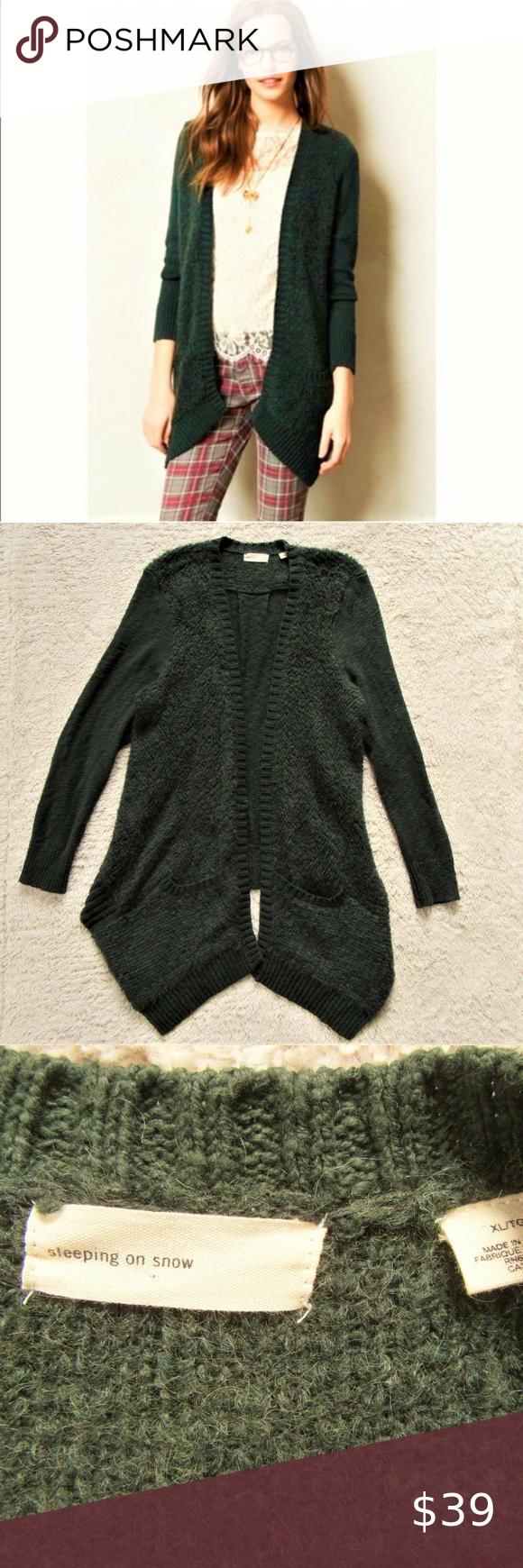 XL Anthropologie Sleeping On Snow Cardigan Sweater