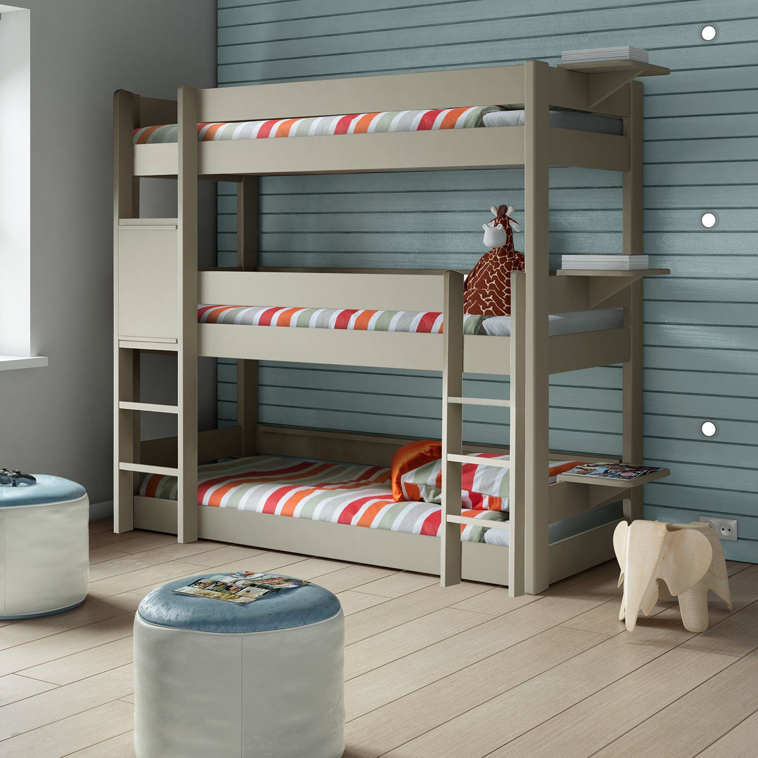 This Mathy By Bols triple bunk bed is perfect for large