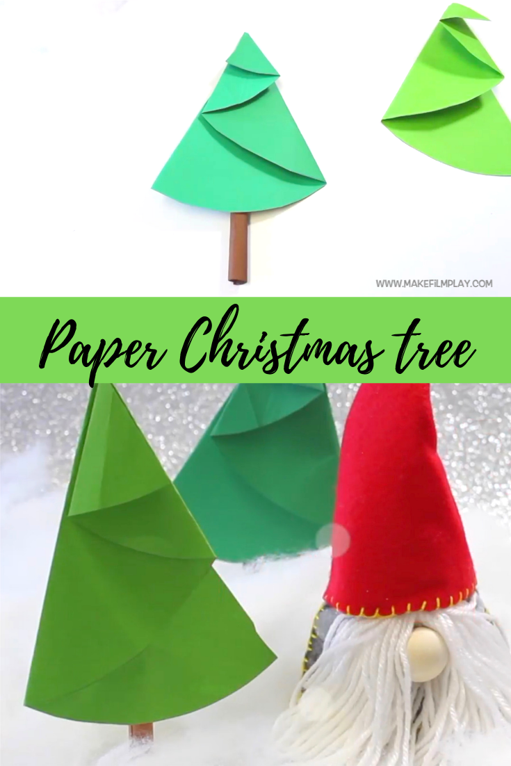 Here Is A Fun Paper Craft Project For The Kids Watch The Video To See How We Folded Craft Activities For Kids Paper Christmas Tree Pinterest Christmas Crafts