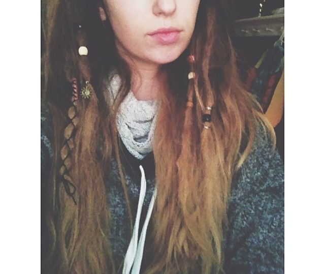 Single dreads. | Single dreadlock in hair, Hair styles