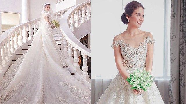 Wedding Dress Train Pin Up Photo 1