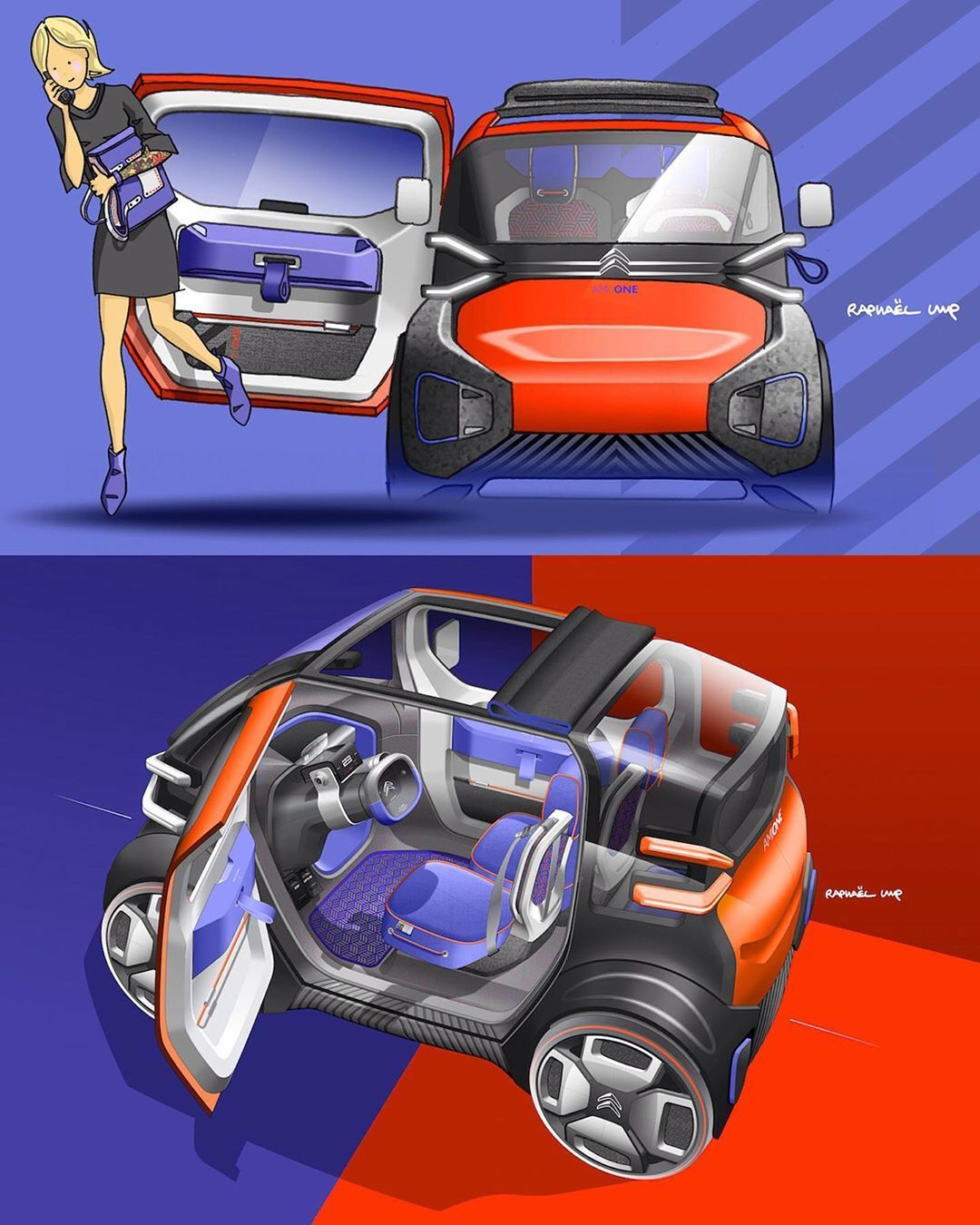 Car Design World On Instagram Updated Citroen Ami One Concept