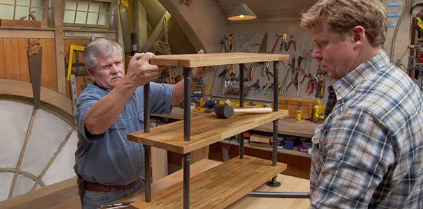 Ask This Old House General Contractor Tom Silva Creates A Shelf Using Black  Plumbing Pipe And