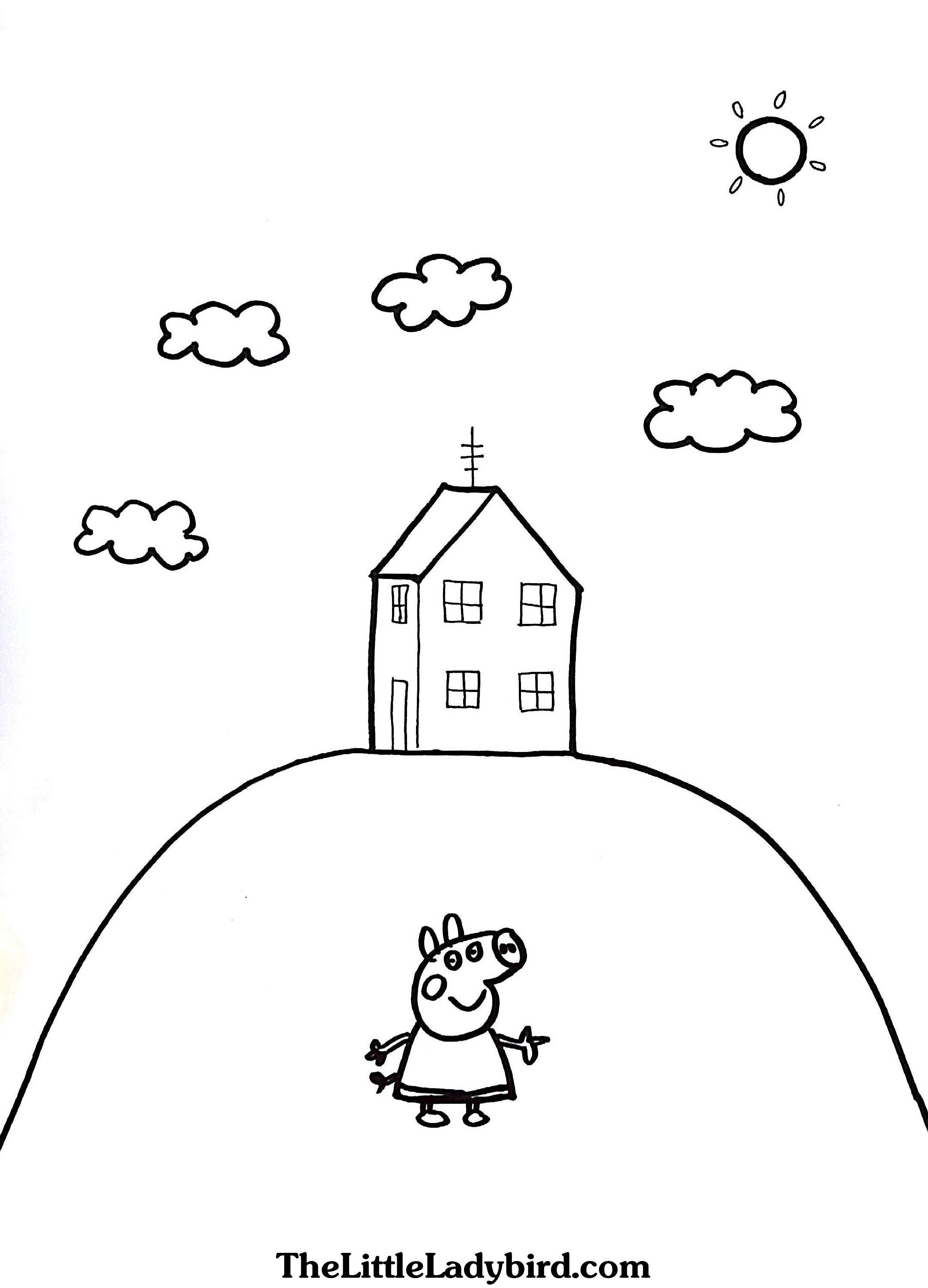 Peppa Pig House Colouring Pages Peppa Pig Coloring Pages Peppa