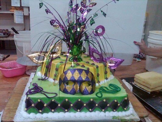 Mardi Gras Theme Cake   Yelp