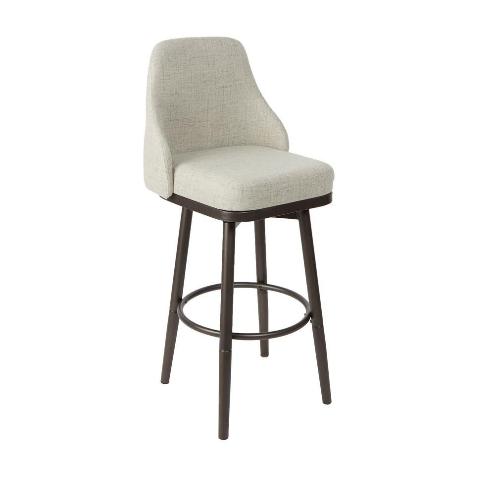 Cyrene Gray Gunmetal With Metal Adjustable Leg Upholstered Curved Back Bar Stool Cpfb1681d In 2020 Adjustable Stool Bar Stools Stool
