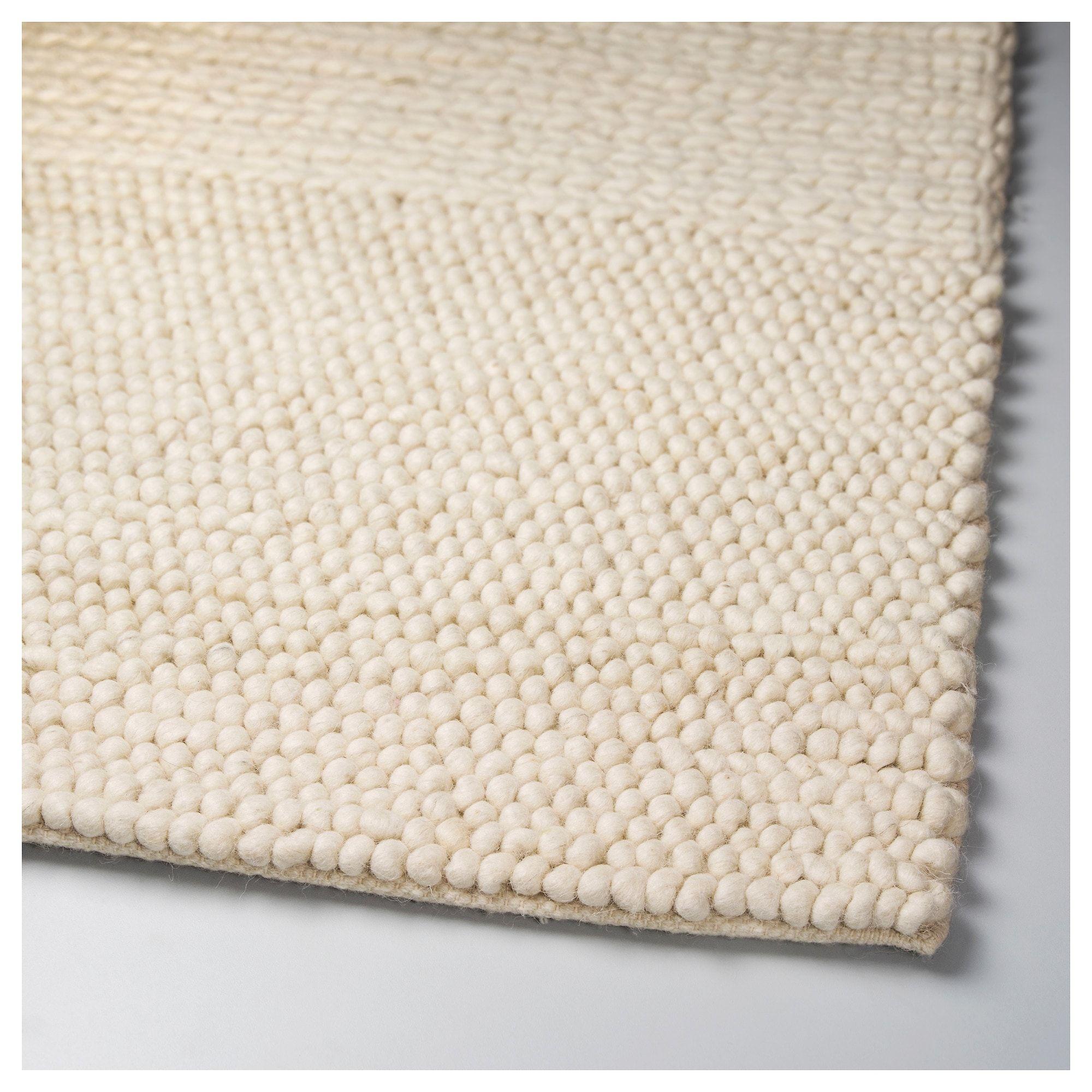 Ibsker Rug Handmade Off White Ikea Stofa Living Room In