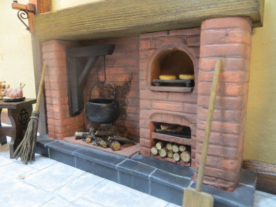 Dolls House Fireplace Tudor Red Brick With By FirecraftMiniatures