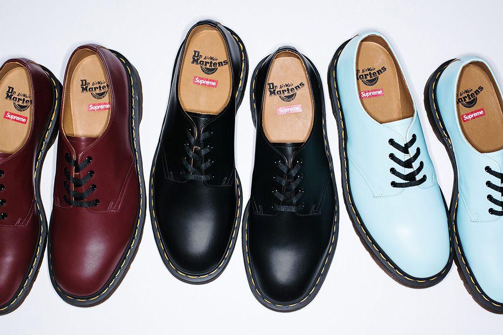 12f2965565bb Supreme x Dr. Martens (6-Eye Boot  amp  4-Eye Shoe