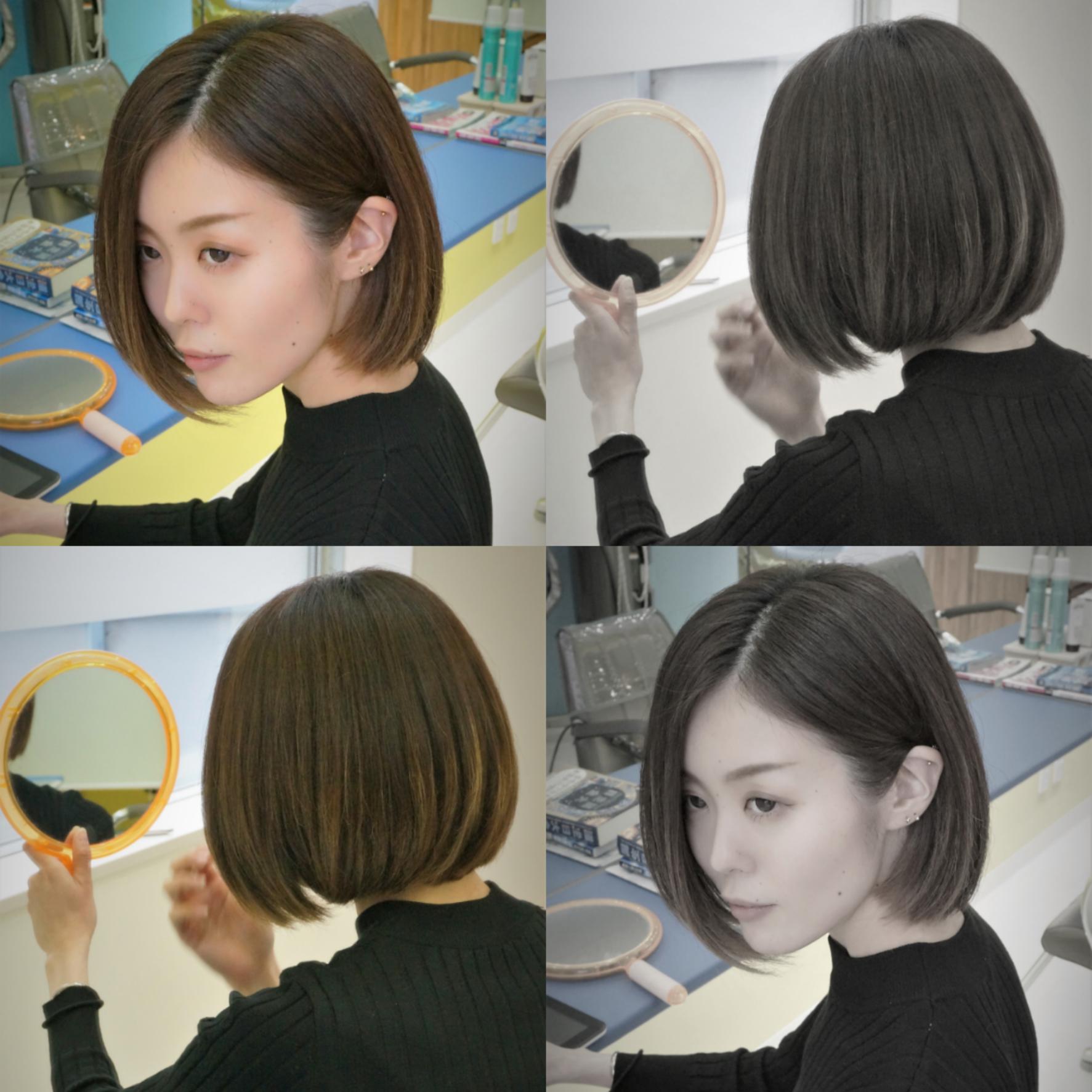 One Length Bob Hair Ruler Hair Dressing Makoto Ishii ショートボブ ボブ
