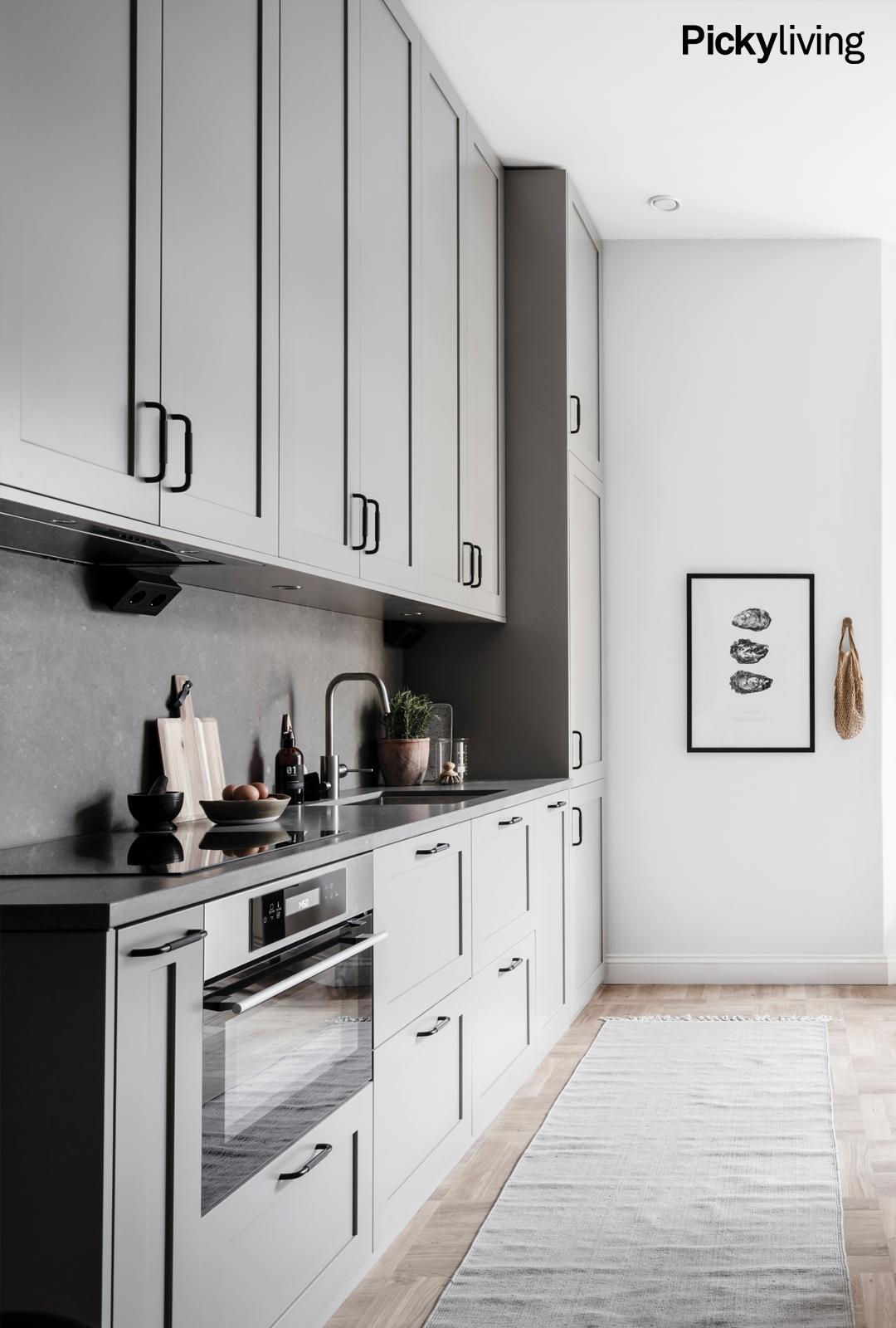 Luckor Till Ikea Kök Metod ~ Köksinspiration Platsbyggd kök med luckor upp till tak IKEAs Metod med luckor från Picky