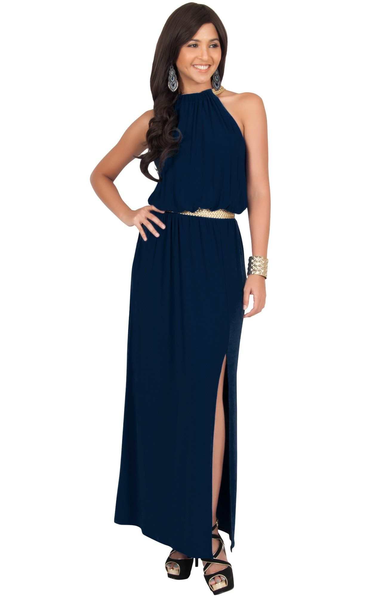 Halter Sun Dress with Belt