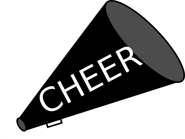 free cheer sillohette clip art black and white megaphone black rh pinterest com cheerleader megaphone clipart free