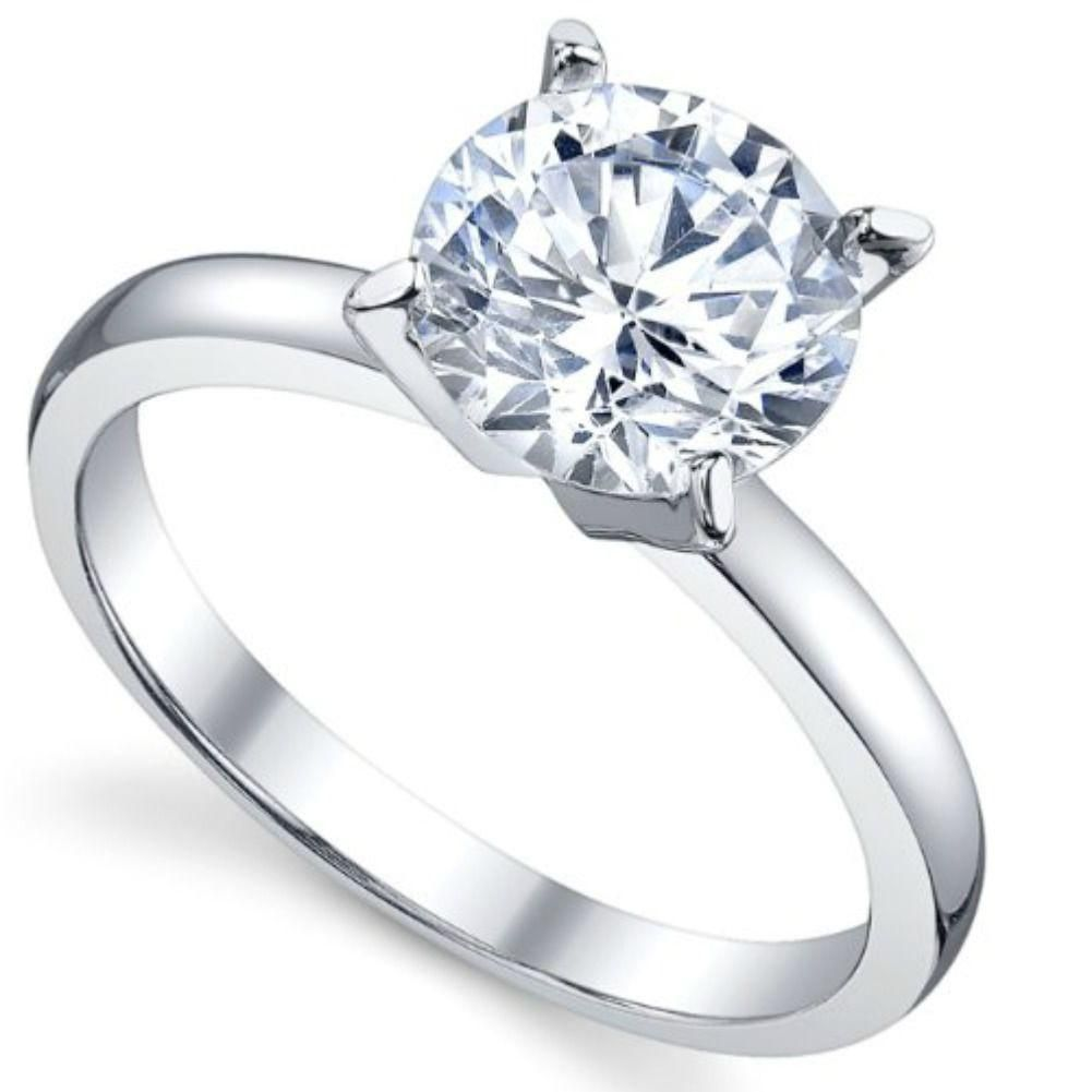 BEAUTIFUL 1CT ROUND WHITE CZ ENGAGEMENT .925 Sterling Silver Ring Sizes 4-11