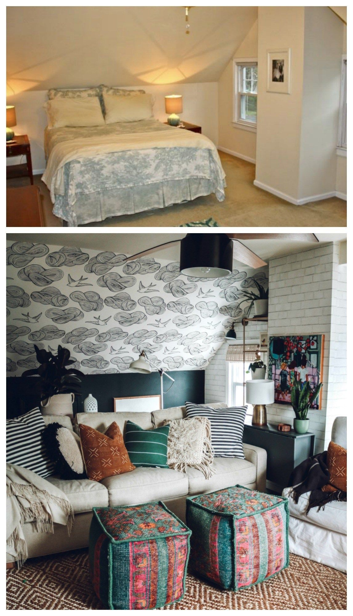 Complete Before And After S 1100 Sq Ft Cape Floor Plan And Future Nesting With Grace Furniture For Small Spaces Small Space Living Decor