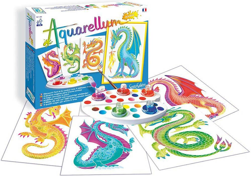 Aquarellum Junior Dragons Paint Set Painting Learn To Paint