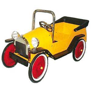 voiture pedales pour enfant tacot garde boue et capote m tal jaune pinterest boue pour. Black Bedroom Furniture Sets. Home Design Ideas