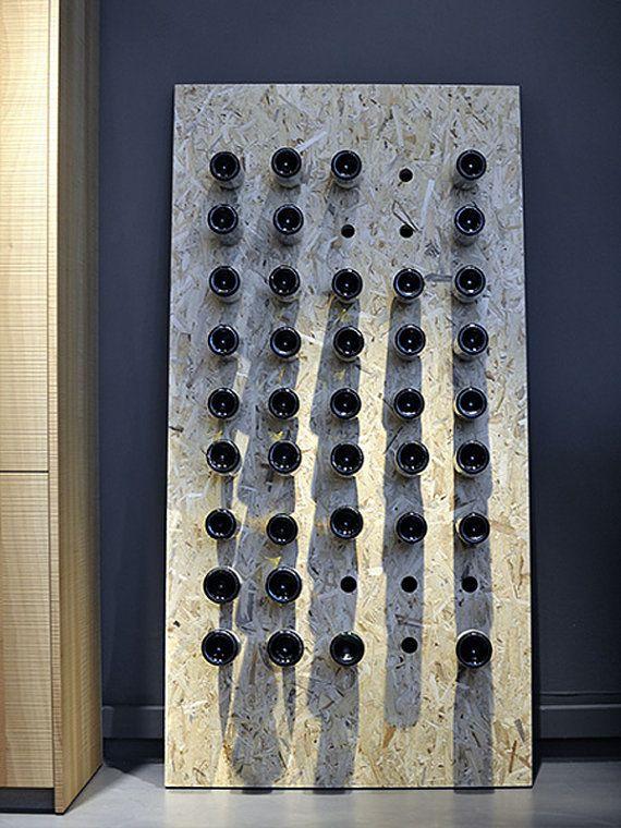 Big Osb Wine Rack Par Papercutsbyalex Sur Etsy 299 00 Osb
