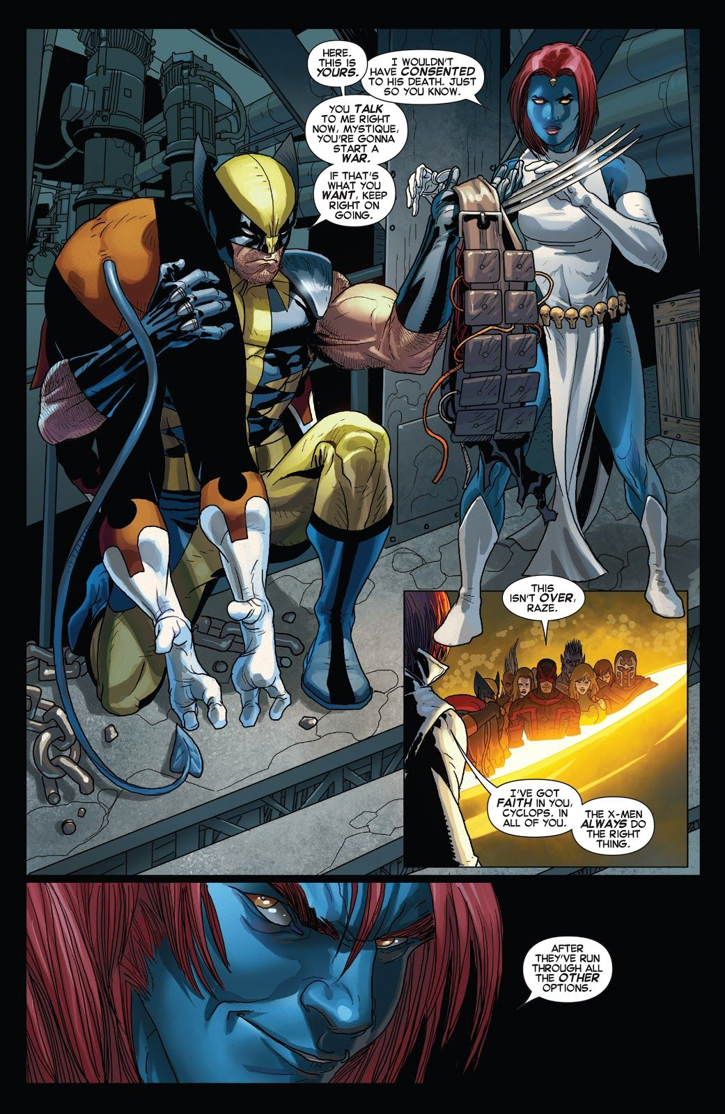 X Men No More Humans Page 49 Nightcrawler Is Captured To Lure The X Men In And Wolverine Refuses To Leave Without T Nightcrawler Comic Nightcrawler Comics