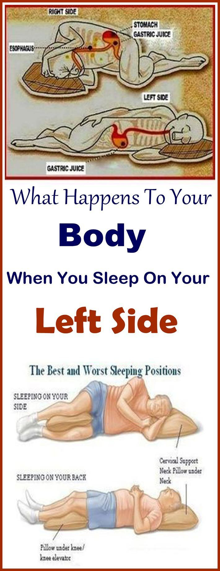 This Is Why You Should Be Sleeping On Your Left Side Health How To Relieve Heartburn Sleeping Positions