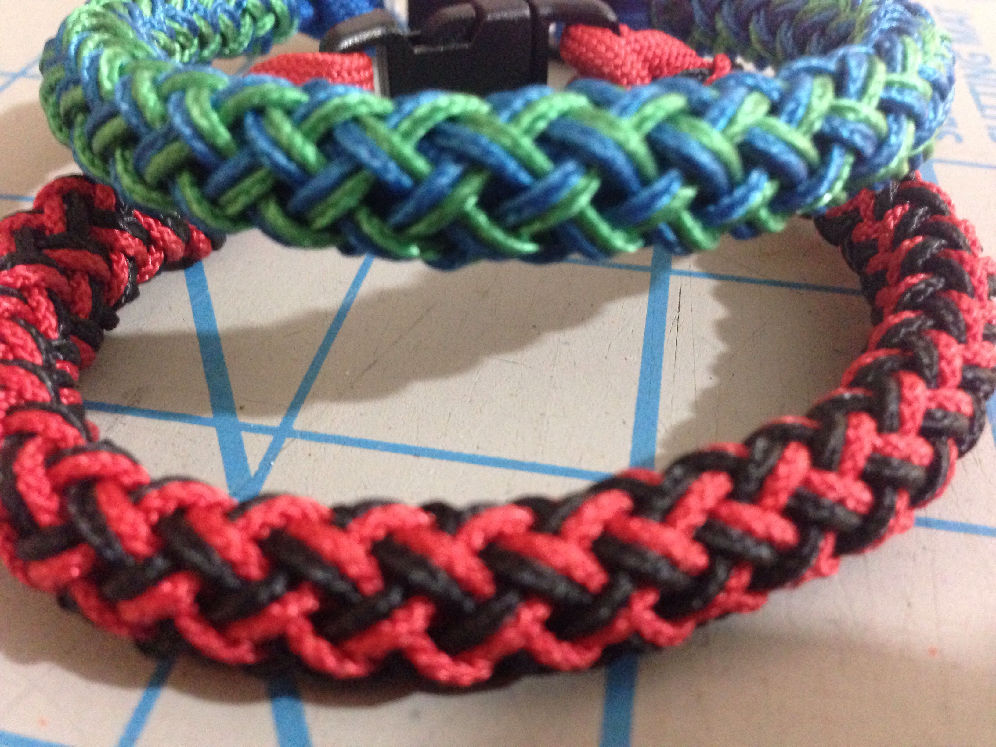 are microcord colored bracelet braided colors purple multi and square the knot a green pin