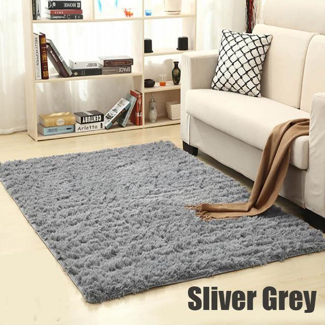 Living Room Rug On Carpet Soft Shaggy Carpet For Living Room