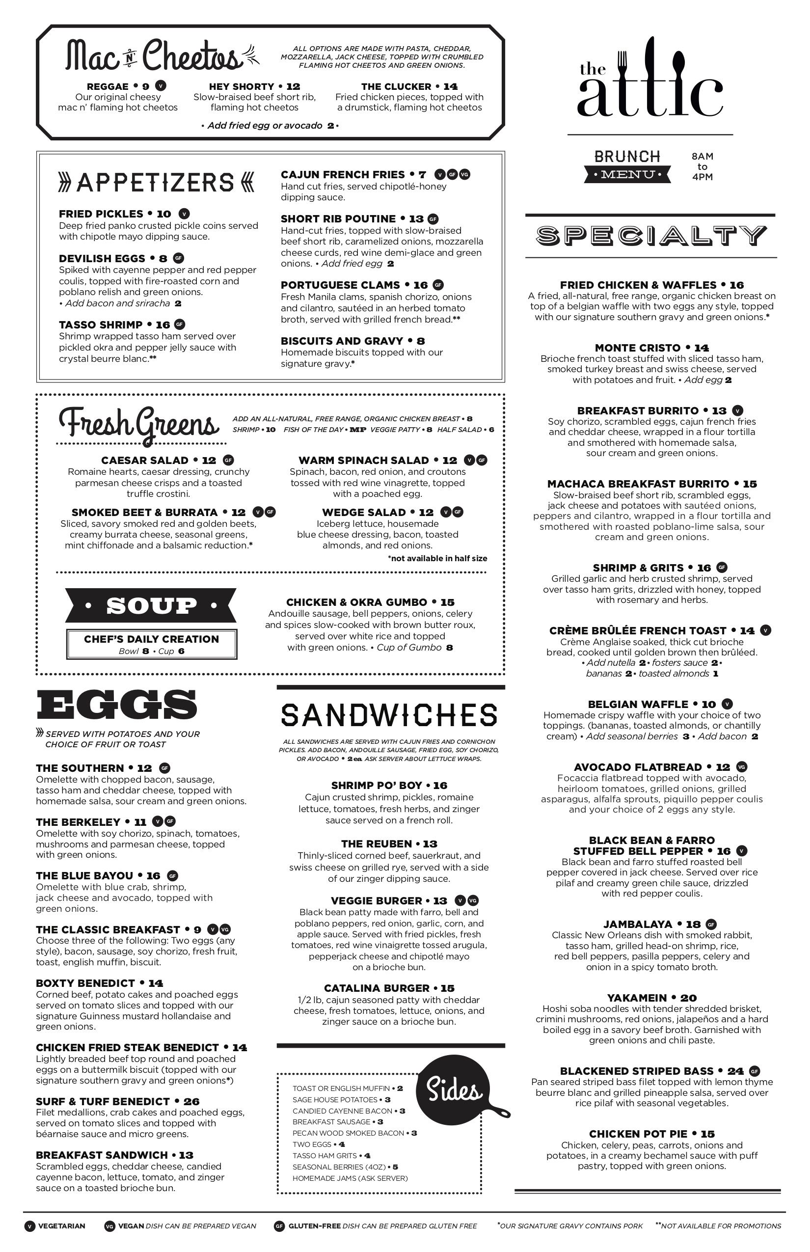 Menu Southern Restaurant Fried Pickles Menu
