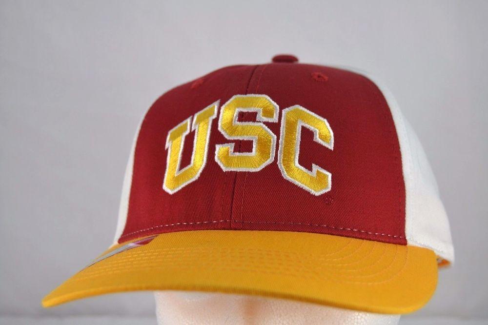 90ab1928e9e USC Trojans Red  White Gold Baseball Cap Adjustable  Captivating   BaseballCap