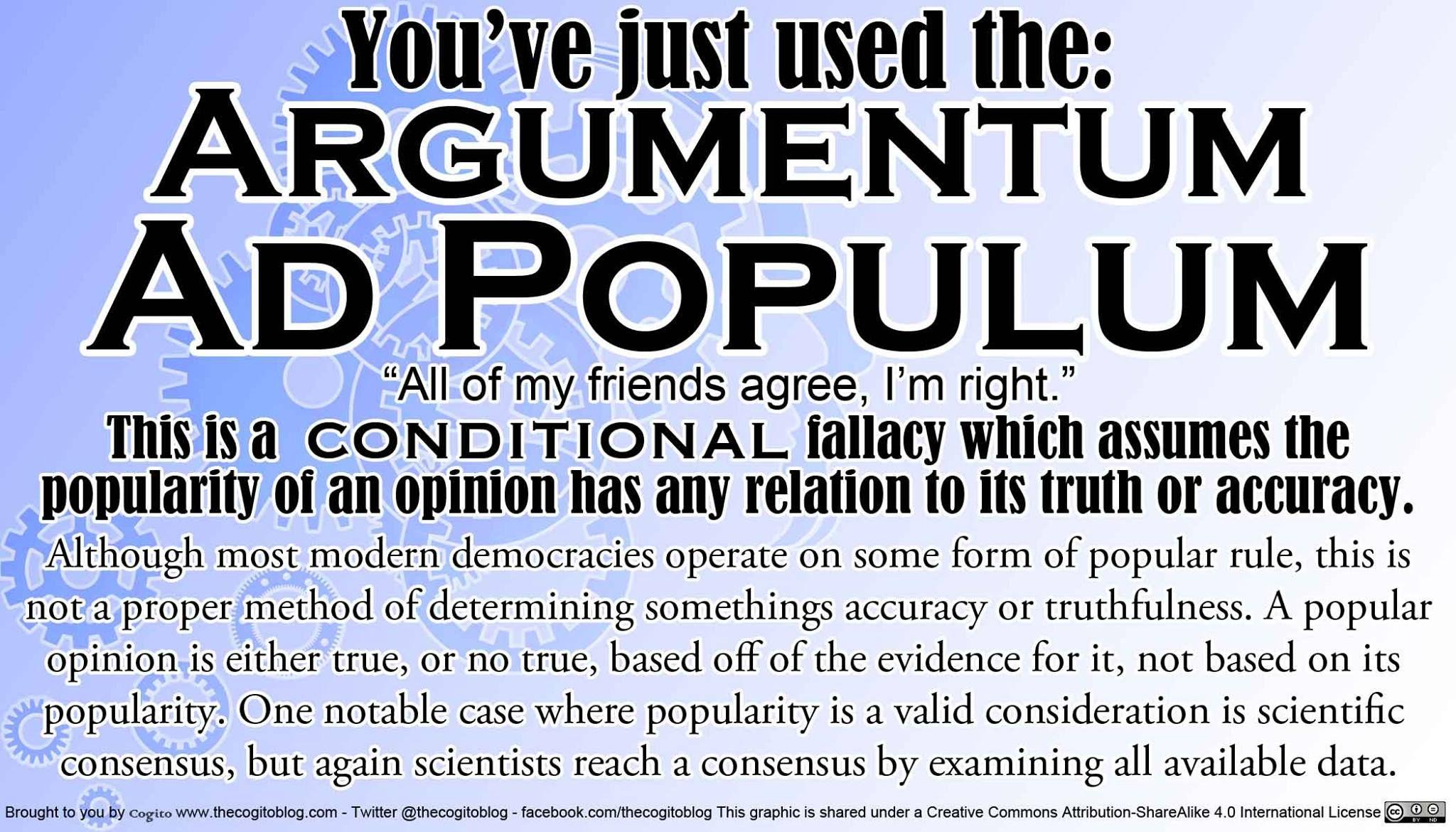 ARGUMENTUM AD POPULUM   Argumentum ad populum, Relatable, Ads
