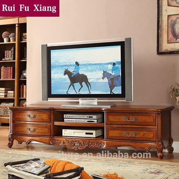 resultado de imagen para muebles para television en madera tallada a mano