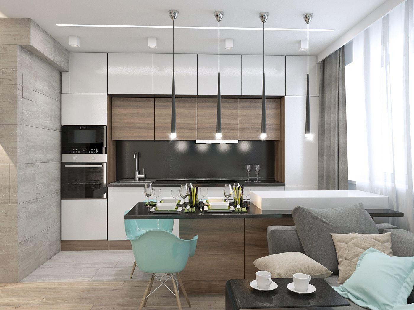 Современная И Функциональная Квартира В Москве On Behance  Кухні Fair Latest Kitchen Interior Designs 2018