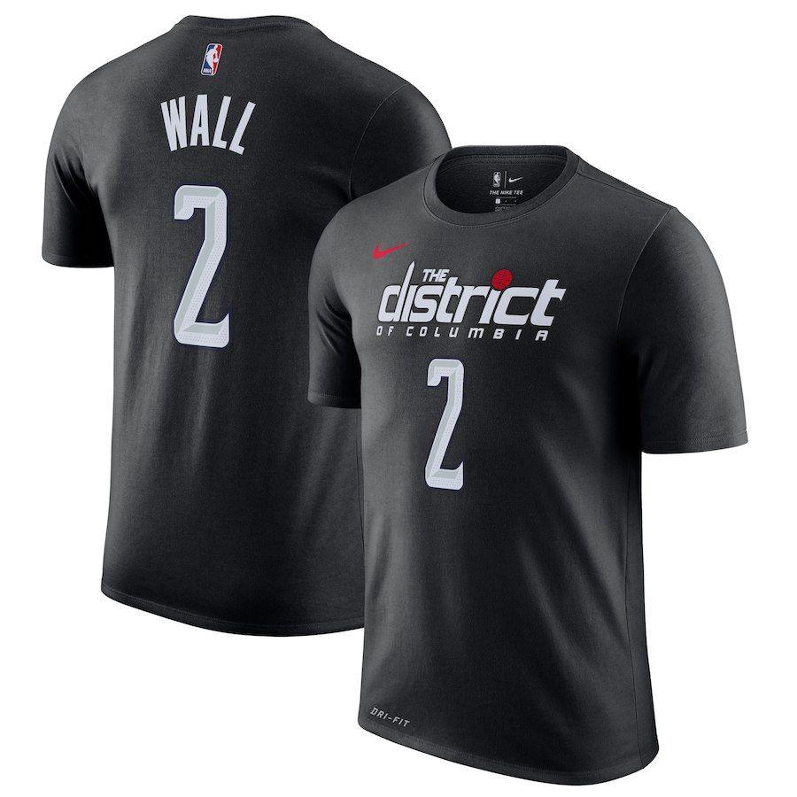 a9a389e87b3 Men's Washington Wizards John Wall Nike Black 2018/19 City Edition Name &  Number T-Shirt