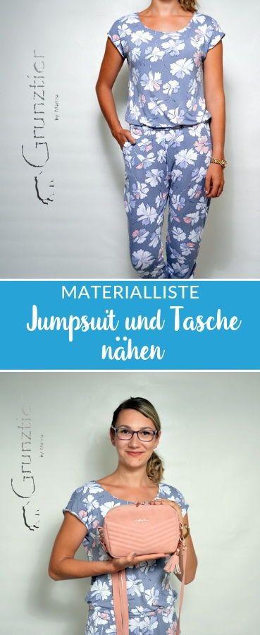 Jumpsuit Joy und Tasche Adora von Grunztier  *Showroom* #casualjumpsuit
