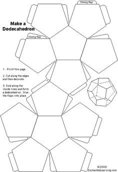 Free Dodecahedron Printable Print Out This Model From Enchanted Learning And Your Part Is Done Students Cut It Emble According To