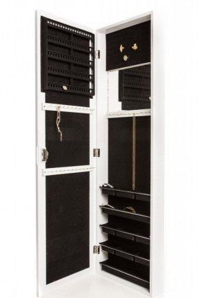 Jewelry Armoire Wall Mount Hanging Over the Door Jewelry Armoire