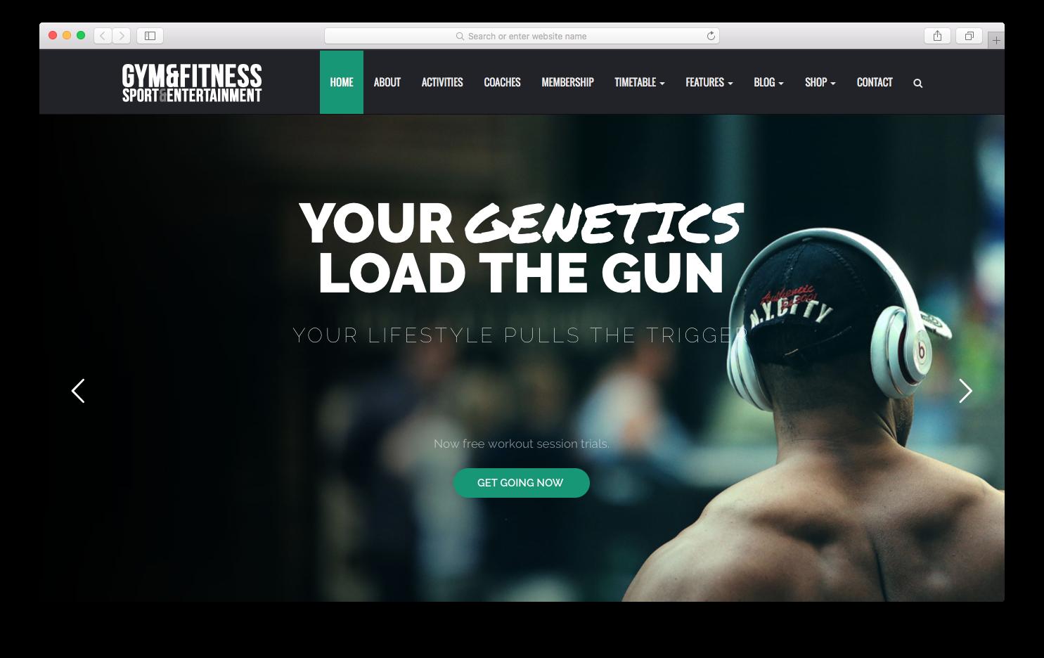 gym / fitness wordpress theme | Wordpress Themes | Pinterest | Gym ...