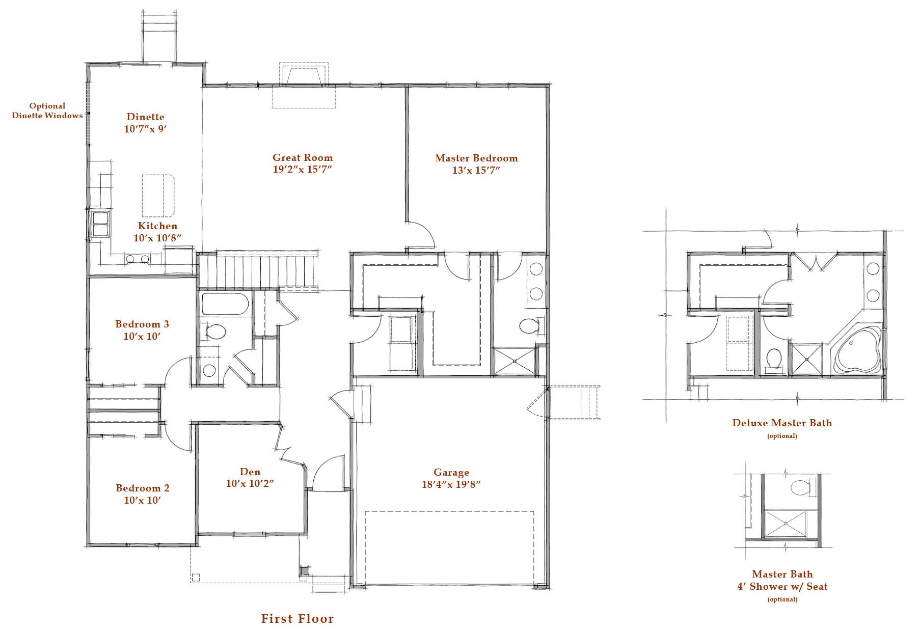 First Floor House Plans Building A House Westport Homes